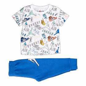 Ensemble T-shirt et pantalon Jordan All over Bleu Pour Enfant