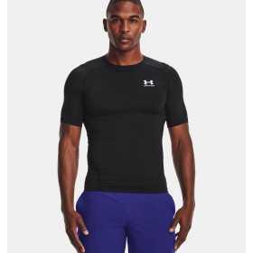 T-shirt de compression à manche courte Under Armour HeatGear Noir pour homme