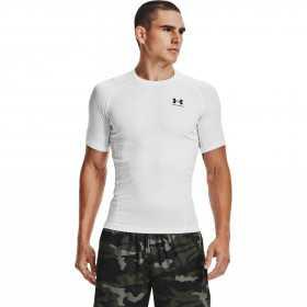T-shirt de compression à manche courte Under Armour HeatGear Blanc pour homme