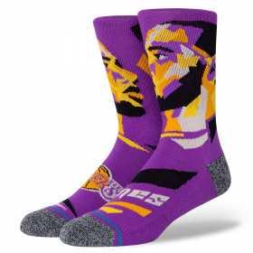 Chaussettes NBA James Profiler Stance Violet