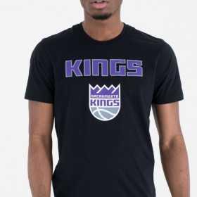 T-Shirt NBA Sacramento Kings New Era Team logo Noir