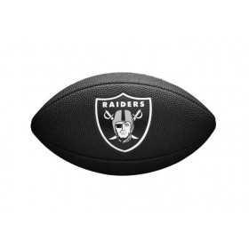 Mini Ballon de Football Américain Wilson Soft touch NFL team logo Las Vegas Raiders Noir