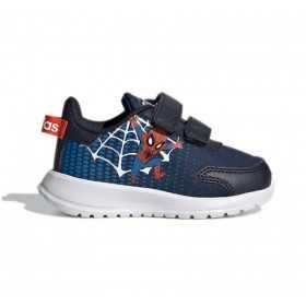 """Chaussure adidas Marvel Tensaur Run """"Spiderman"""" bleu pour bébé"""