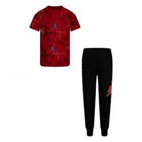 Ensemble T-shirt et pantalon Jordan All over Rouge Pour Enfant