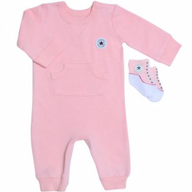 baby's Converse Lil Chuck Coverall Pink