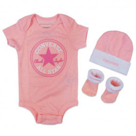 Baby's Converse Classic Bodysuit crepper set Pink