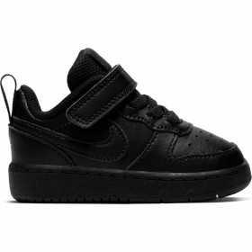 Baby's Nike Court Borough Low 2 (TD) Toddler Black Shoe