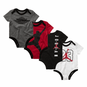 Baby's Jordan Aj Classic Bodysuit set 4 pack Multicolor