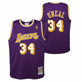 Kid's Mitchell & Ness NBA Hardwood Classic NBA Jersey Shaquille O'neal Los Angeles Lakers 1996-97 Purple