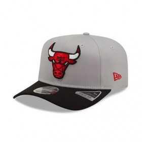 Casquette NBA Chicago Bulls New Era Tonal 9Fifty Stretch Snap gris