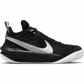 Kids' Nike Team Hustle D 10 Black Basketball Shoes