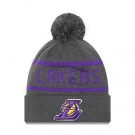 New Era Jake Cuff Knit NBA Los Angeles Lakers Grey