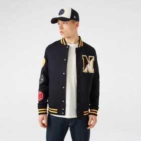 Men's New Era Heritage Varsity jacket black