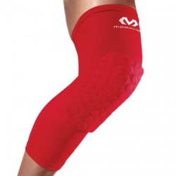 McDavid Hexpad Genoux / Tibia Rouge