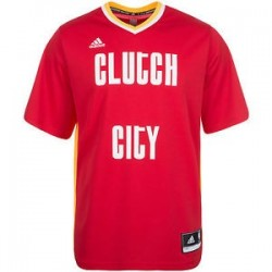 adidas Maillot NBA à Manche Houston Rockets Clutch City