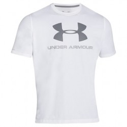 Under Armour T-shirt Sportstyle Logo Blanc/Gris