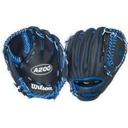 """Gant de Baseball Wilson A200 pour enfant 10"""" LHC Noir/bleu"""
