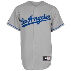 Maillot de Baseball MLB Retro Los Angels Dodgers Gris Majestic replica