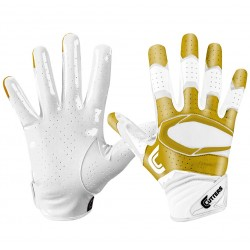 Gant de football américain Cutters S451 REV pro 2.0 special edition Blanc/or