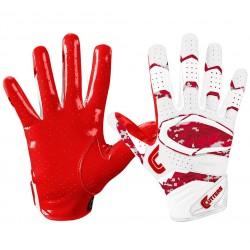 Gant de football américain Cutters S451 REV pro 2.0 special edition Rouge/camo