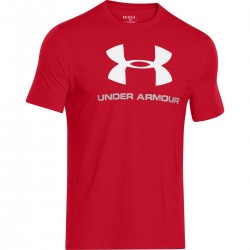 T-shirt Under Armour Sportstyle Logo Rouge/blanc pour homme