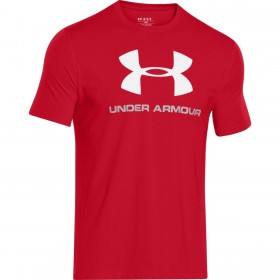 T-shirt Under Armour Sportstyle Logo Rouge/blanc pour homme