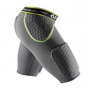Short de protection McDavid Hexpad Thudd charcoal / jaune