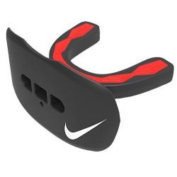 Protège dent + protège lèvre Nike Hyperflow Adulte Noir et rouge avec strap et saveur