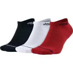 Chaussettes Jordan No-show noir blanche rouge 3 paires