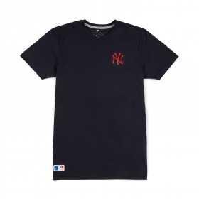 T-Shirt MLB New York Yankees New Era Team Apparel navy pour homme
