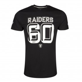 T-shirt NFL Oakland Raiders New Era 3D Number noir pour homme