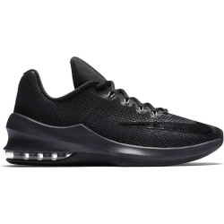 Chaussure de Basket Nike Air max Infuriate tige basse noir