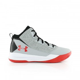 Boy's Under Armour Jet MID Grey red