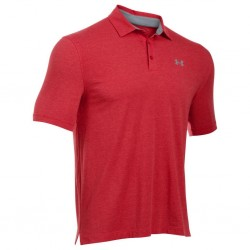 Polo Under Armour Charged cotton Scramble Rouge pour Homme
