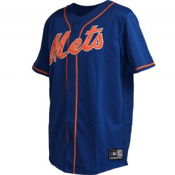 Maillot de Baseball MLB Retro New-York Mets Bleu Majestic replica