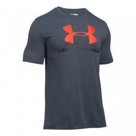 T-shirt Under Armour Sportstyle Logo noir rouge pour homme