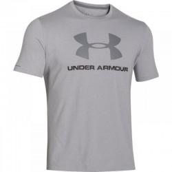 T-shirt Under Armour Sportstyle Logo gris noir pour homme